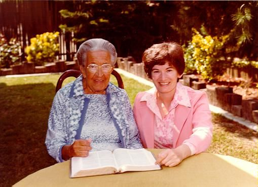 Corrie ten Boom and Pamela Rosewell Moore